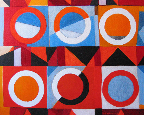 Jeremie Iordanoff - Little abstract painting with circles
