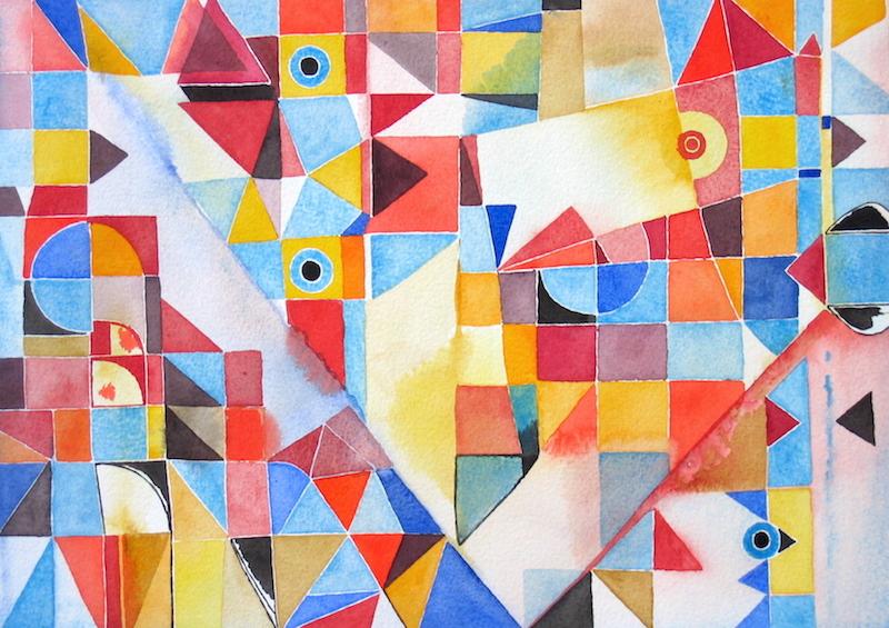 Abstract Art Watercolor 411 Iordanoff Abstract Artist