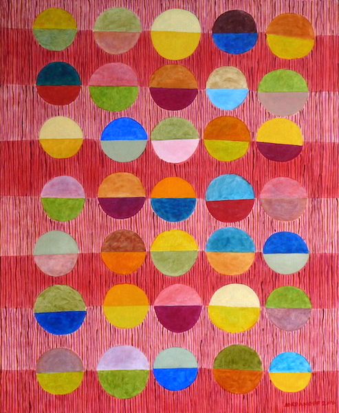 Jérémie Iordanoff - Abstract painting with semicircles