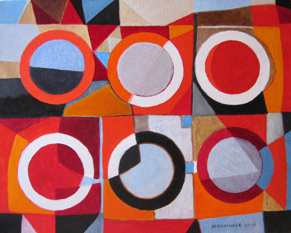 Jérémie Iordanoff - Small abstract painting with circles