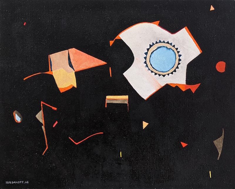 peinture abstraite dans le noir par iordanoff artiste peintre. Black Bedroom Furniture Sets. Home Design Ideas