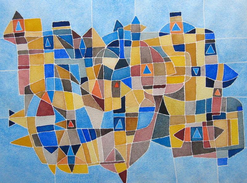 Art abstrait aquarelle 352 iordanoff artiste peintre for Artiste art abstrait