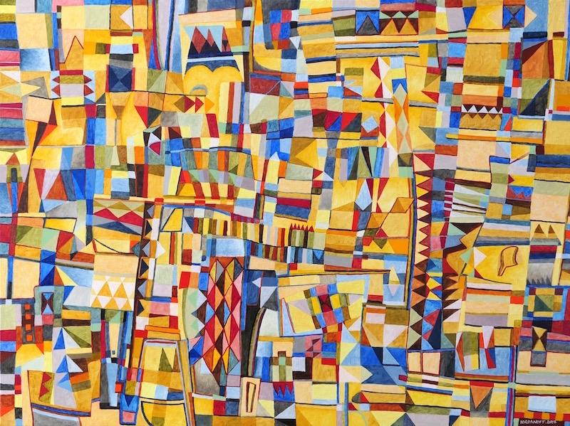 Art Abstrait Peinture 641 Iordanoff Artiste Peintre
