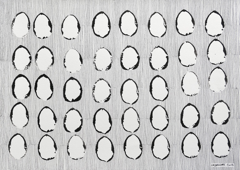 Dessin Abstrait Contemporain 609 Iordanoff Artiste Peintre