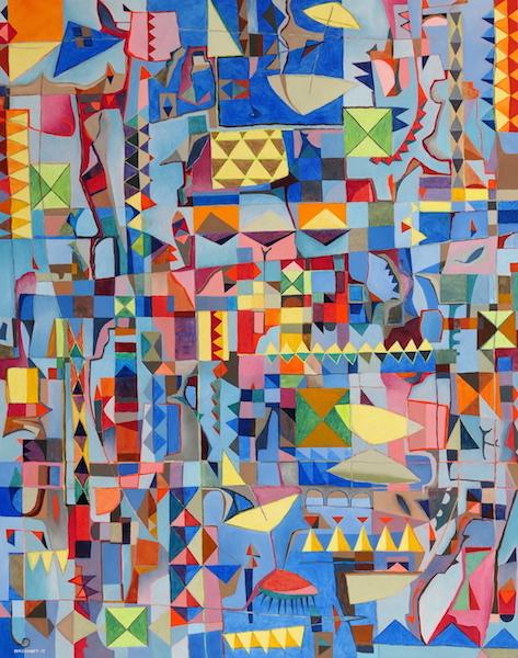 Abstract Art Painting 656 Iordanoff Abstract Artist
